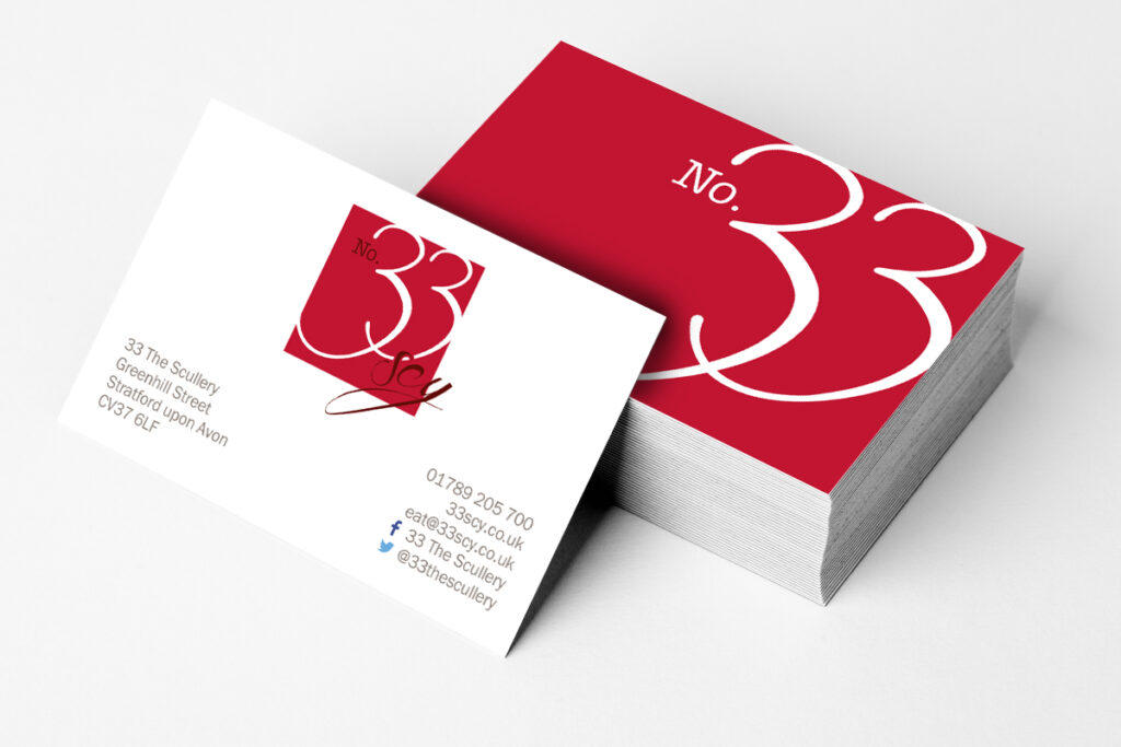 33SCY Business Cards