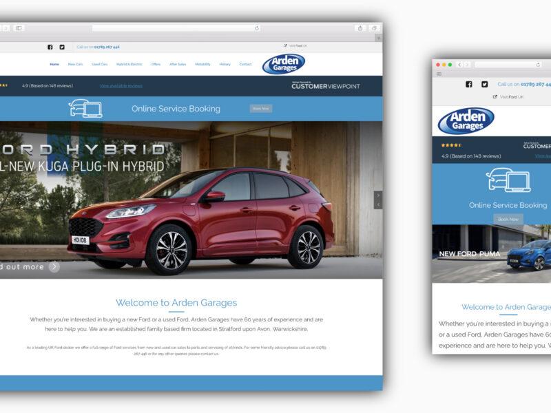 Arden Garages Web Design
