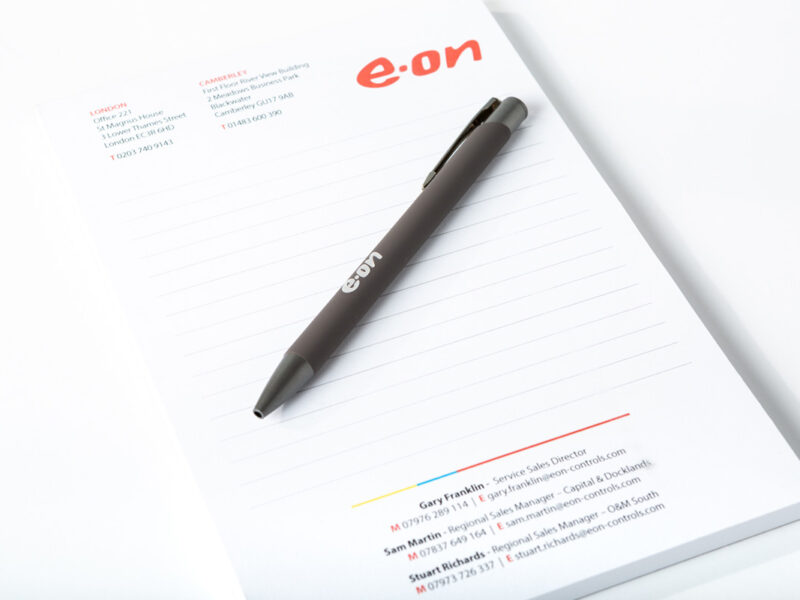 E.On Pads and Pens