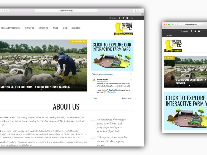 Farm Safety Foundation Web Design