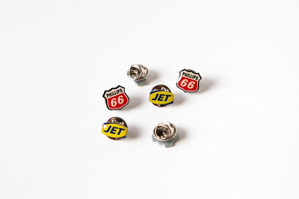 JET & Phillips 66 Pin Badges
