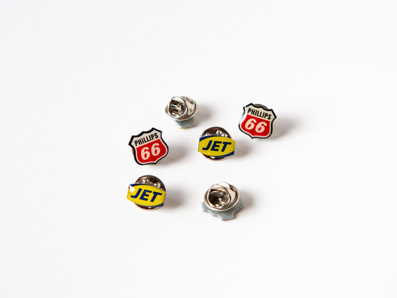 JET & Phillips 66 Pin Badges