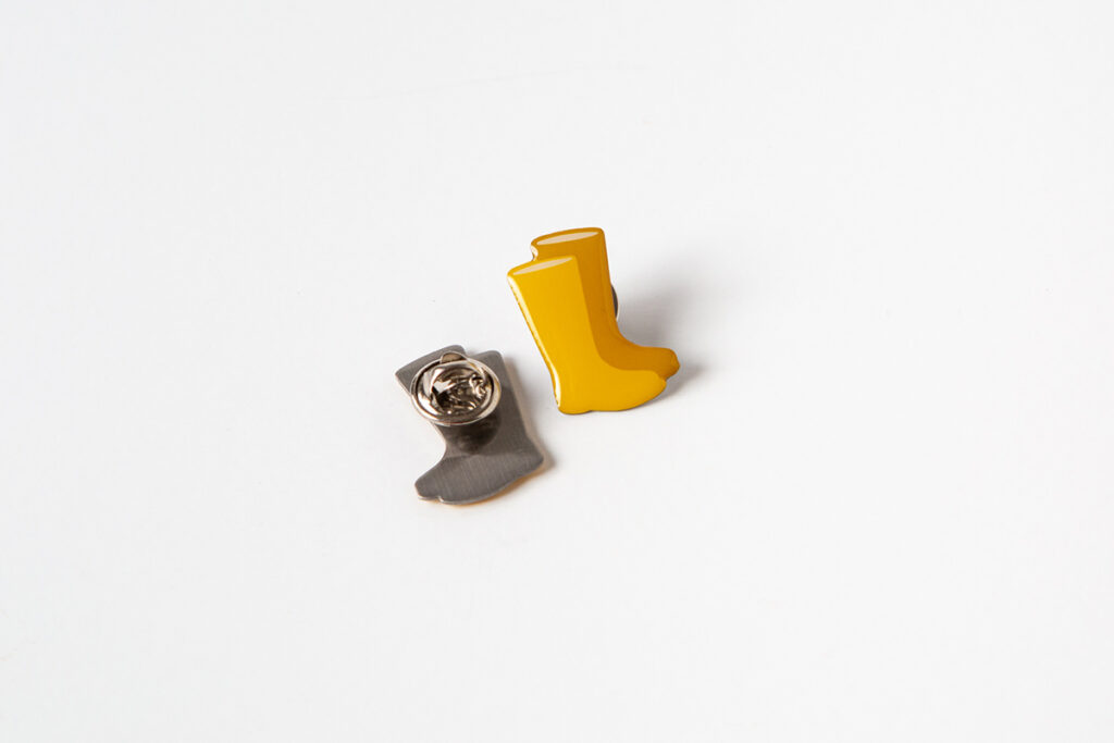 Yellow Wellies Pin Badges