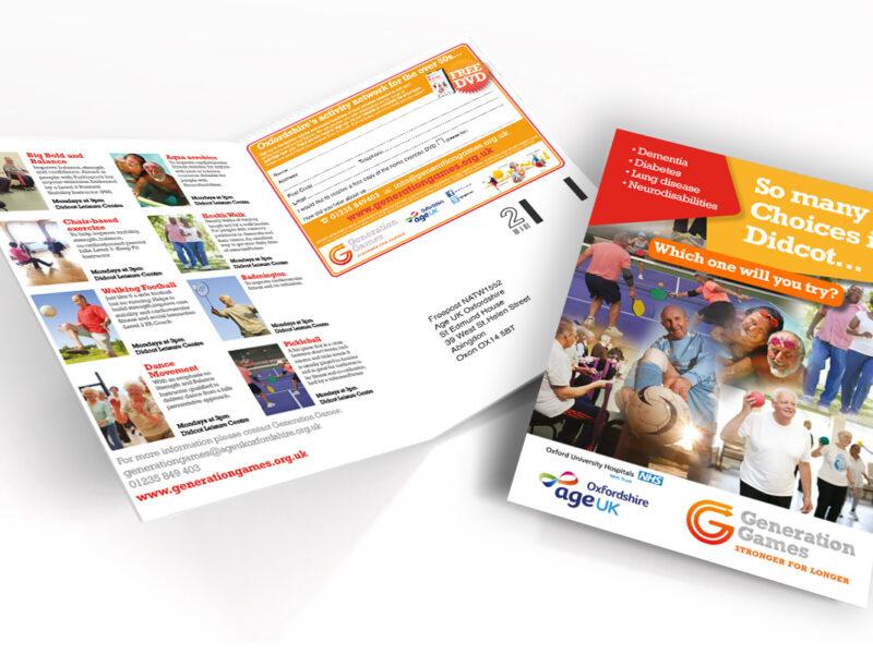 Generation Games Leaflets